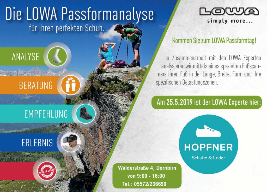 Lowa-Passformanalyse